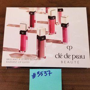 #3537 Cle de Peau Lips Sample 1 Card 4 colors Rose